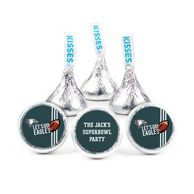 Personalized Eagles Football Party Hershey's Kisses (50 pack)