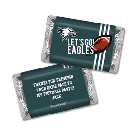 Personalized Hershey's Miniatures Wrappers Eagles Football Party