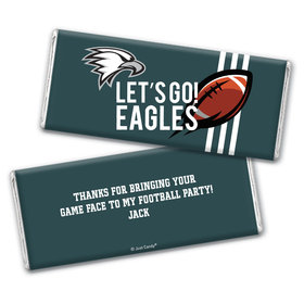 Personalized Eagles Football Party Hershey's Chocolate Bar & Wrapper