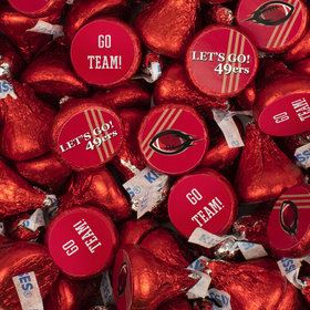 49ers Football Party Hershey's Kisses Candy