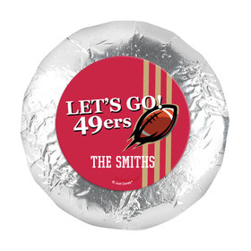"Personalized 49ers Football Party 1.25"" Stickers (48 Stickers)"