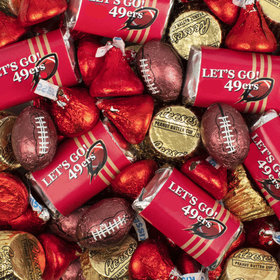 Let's Go 49ers Football Chocolate Mix