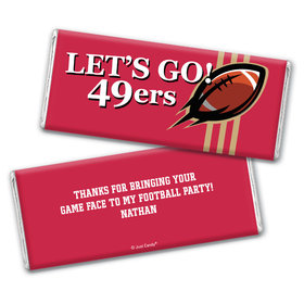 Personalized 49ers Football Party Hershey's Chocolate Bar & Wrapper