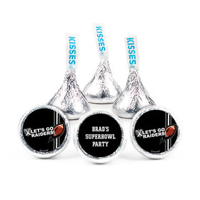 Personalized Raiders Football Party Hershey's Kisses (50 pack)