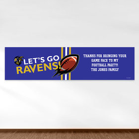 Personalized Ravens Football Party Banner