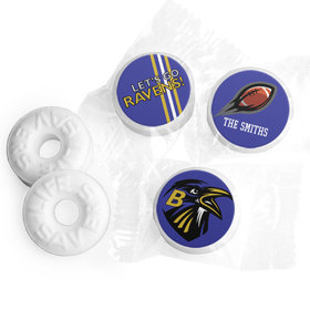 Personalized Ravens Football Party Life Savers Mints