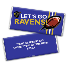Personalized Ravens Football Party Chocolate Bar Wrappers Only