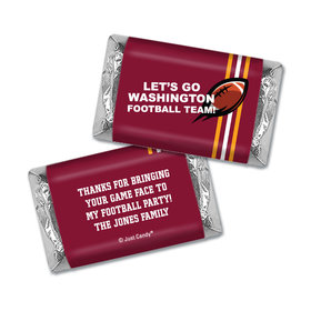 Personalized Hershey's Miniatures Wrappers Washington Football Party