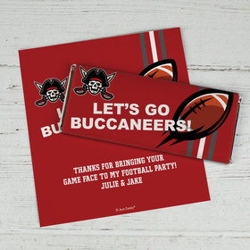 Personalized Buccaneers Football Party Chocolate Bar Wrappers Only
