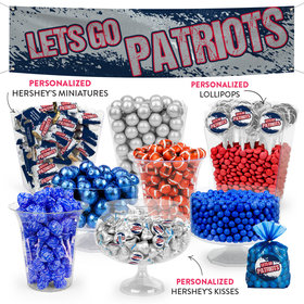 Lets Go Patriots Deluxe Candy Buffet
