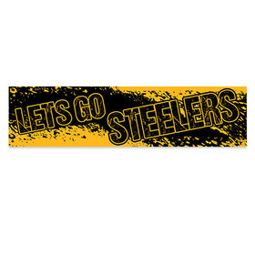 Let's Go Steelers Football Party Banner