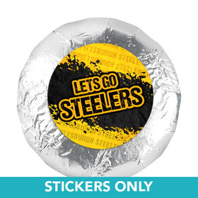 "Let's Go Steelers 1.25"" Stickers (48 Stickers)"