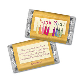 Teacher Appreciation Personalized Hershey's Miniatures Wrappers Crayon