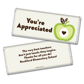 Personalized Teacher Appreciation Chocolate Bar Wrappers