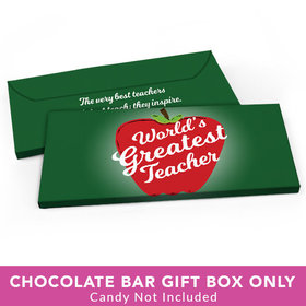 Deluxe Personalized Teacher Appreciation World's Greatest Candy Bar Favor Box