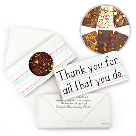 Personalized Teacher Appreciation You Rule Gourmet Infused Belgian Chocolate Bars (3.5oz)