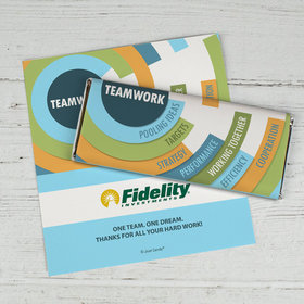 Personalized Business Teamwork Logo Teamwork Chocolate Bar Wrappers Only