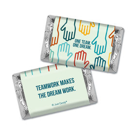 Business Teamwork Personalized Hershey's Miniatures Wrappers One Team One Dream