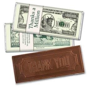 Business Thank You Personalized Embossed Chocolate Bar Thanks a Million