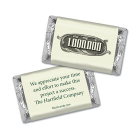 Personalized Business Thank You Thanks a Million Hershey's Miniature Wrappers Only
