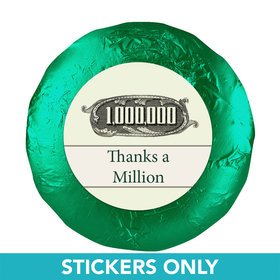 "Business Thank You 1.25"" Sticker Thanks a Million (48 Stickers)"