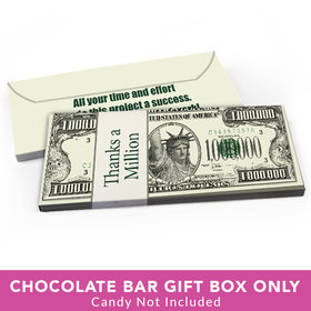 Deluxe Personalized Business Thank You Thanks A Million Candy Bar Favor Box