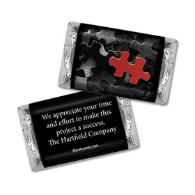 Personalized Business Thank You Puzzle Key Piece Hershey's Miniature Wrappers Only