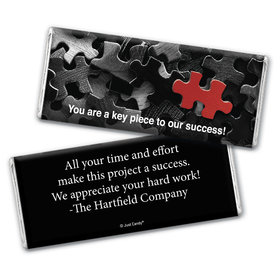 Business Thank You Personalized Chocolate Bar Wrappers Puzzle Key Piece
