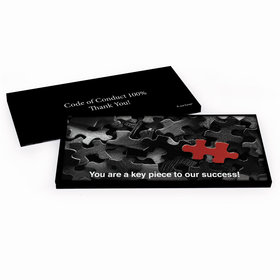 Deluxe Personalized Business Thank You Puzzle Hershey's Chocolate Bar in Gift Box