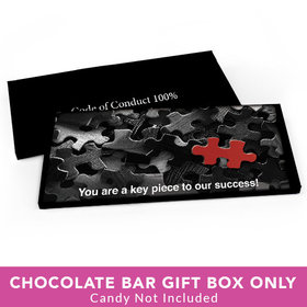 Deluxe Personalized Business Thank You Puzzle Candy Bar Favor Box
