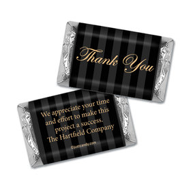 Personalized Business Thank You Formal Gold & Pinstripes Hershey's Miniature Wrappers Only