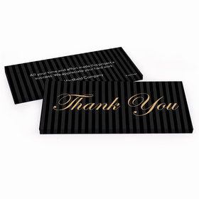 Deluxe Personalized Business Thank You Pinstripes Hershey's Chocolate Bar in Gift Box