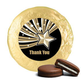 Business Thank You Chocolate Covered Oreos Gold Stars (24 Pack)