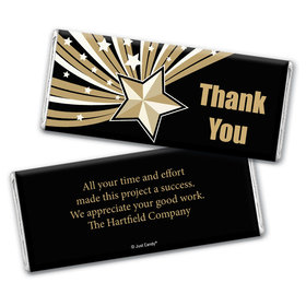 Business Thank You Personalized Chocolate Bar Wrappers Gold Stars