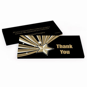 Deluxe Personalized Business Thank You Gold Star Hershey's Chocolate Bar in Gift Box