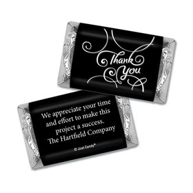 Personalized Thank You Scroll Hershey's Miniature Wrappers Only