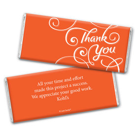 Thank You Personalized Chocolate Bar Wrappers Scroll