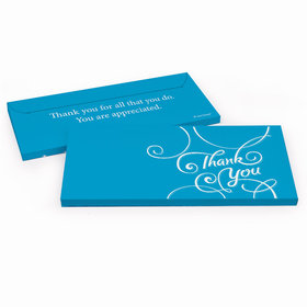 Deluxe Personalized Business Thank You Script Hershey's Chocolate Bar in Gift Box