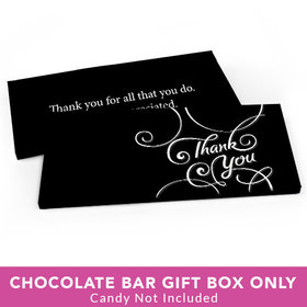Deluxe Personalized Business Thank You Script Candy Bar Favor Box