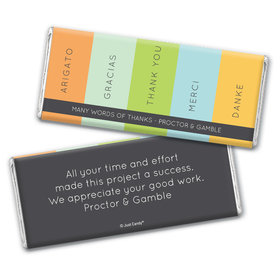 Business Thank You Personalized Chocolate Bar Wrappers Multi Language