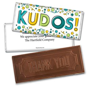 Employee Appreciation Personalized Embossed Chocolate Bar Kudos!