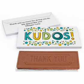 Deluxe Personalized Business Thank You Kudos Chocolate Bar in Gift Box
