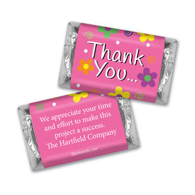 Thank You Personalized Hershey's Miniatures Daisies