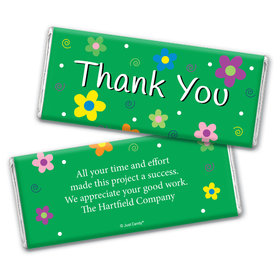 Thank You Personalized Chocolate Bar Wrappers Daisies