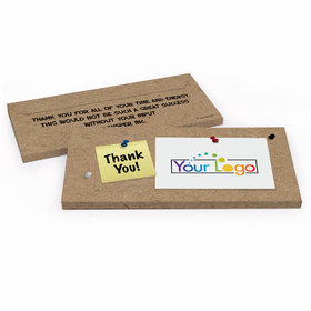 Deluxe Personalized Business Thank You Add Your Logo Hershey's Chocolate Bar in Gift Box