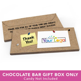 Deluxe Personalized Business Thank You Add Your Logo Candy Bar Cover