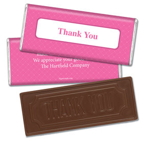 Thank You Personalized Embossed Chocolate Bar Classic Crisscross