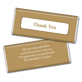 Thank You Personalized Chocolate Bar Classic Crisscross