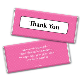 Thank You Personalized Chocolate Bar Wrappers Classic Crisscross