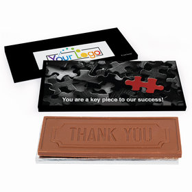 Deluxe Personalized Business Thank You Add Your Logo Chocolate Bar in Gift Box